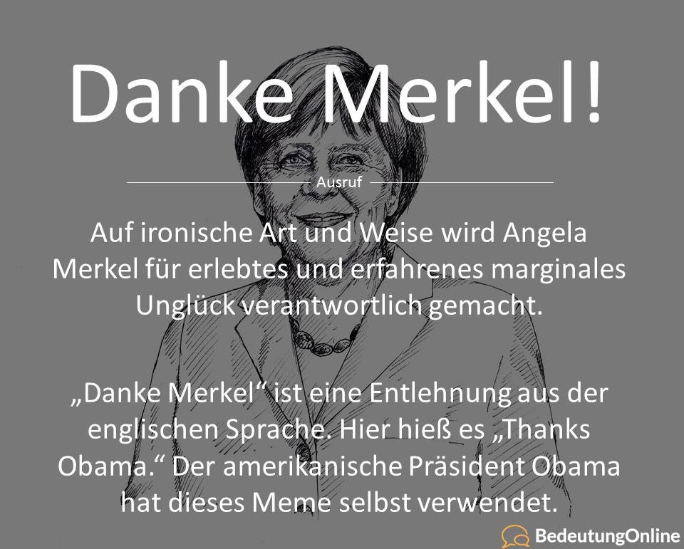"""Was bedeutet """"Danke Merkel""""?"""