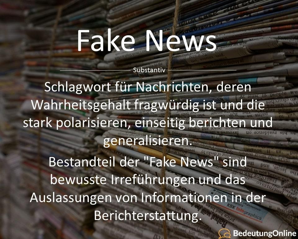 Was sind Fake News? Bedeutung, Definition