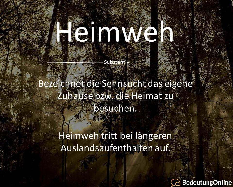 Was ist Heimweh? Bedeutung und Definition erklärt ...