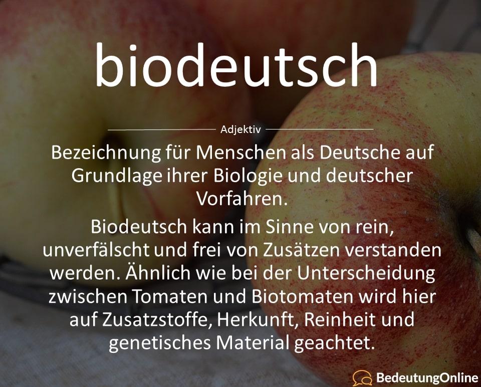 Biodeutsch: Bedeutung, Definition