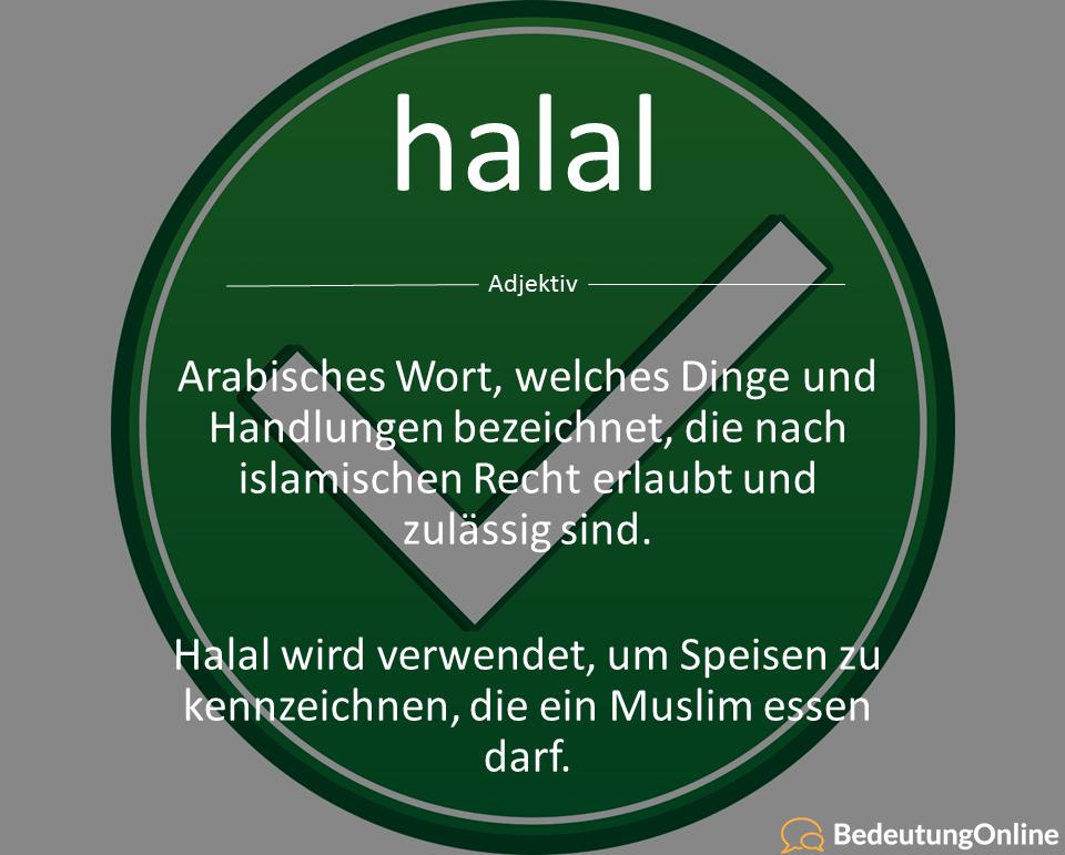 Was bedeutet halal auf deutsch? Übersetzung und Bedeutung erklärt