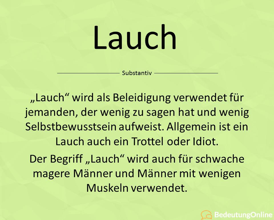 Lauch Bedeutung Jugendwort