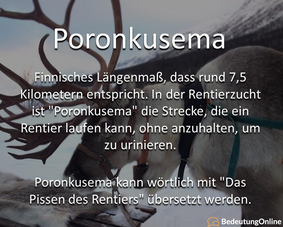 Poronkusema + Peninkulma – Finnische Längenmaße