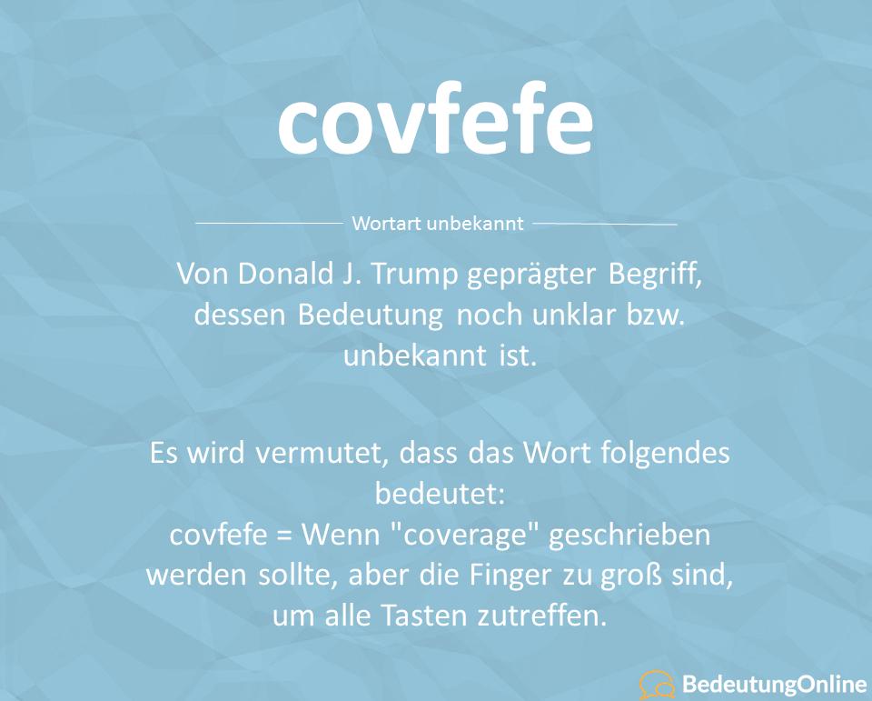 covfefe: Bedeutung, Trump Wort