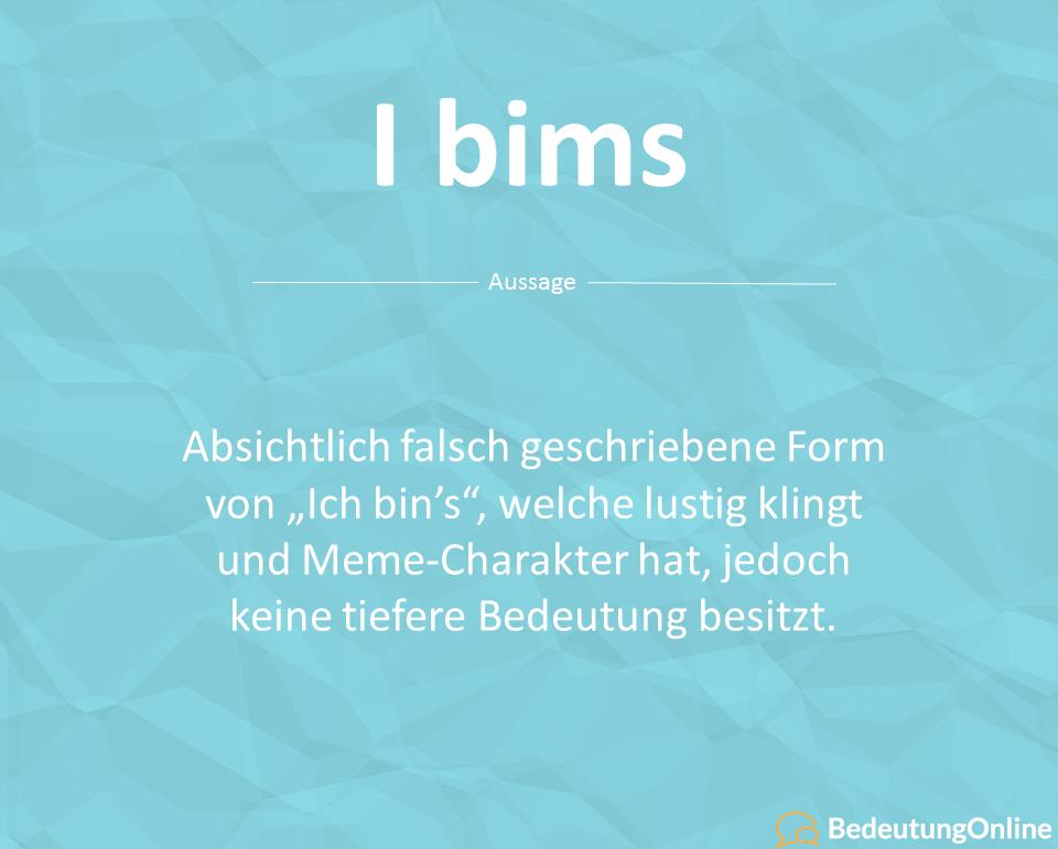 "Was bedeutet ""I bims""? Bedeutung, Wortherkunft, Definition"