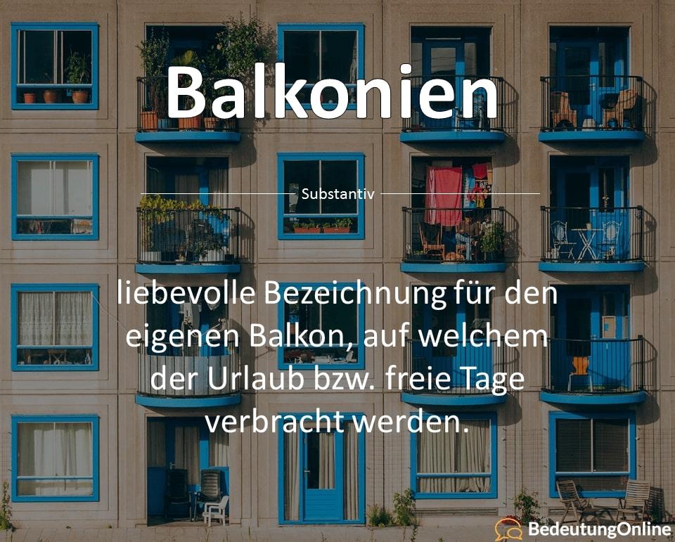 Balkonien – Was ist damit gemeint? Bedeutung
