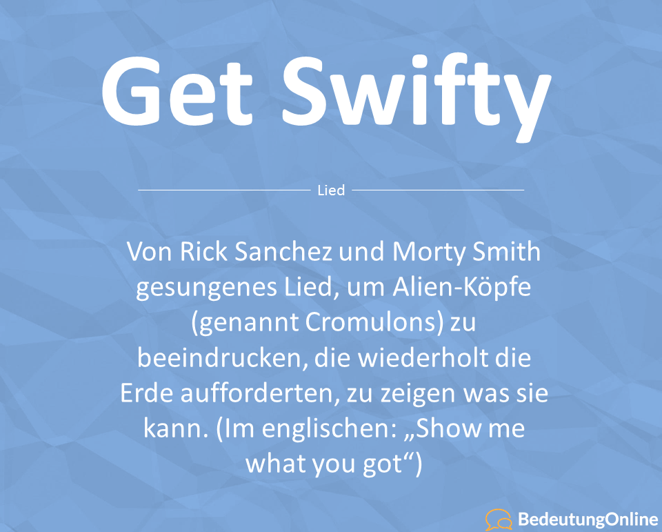 Get Schwifty (Lied, Liedtext, Lyrics) Rick and Morty