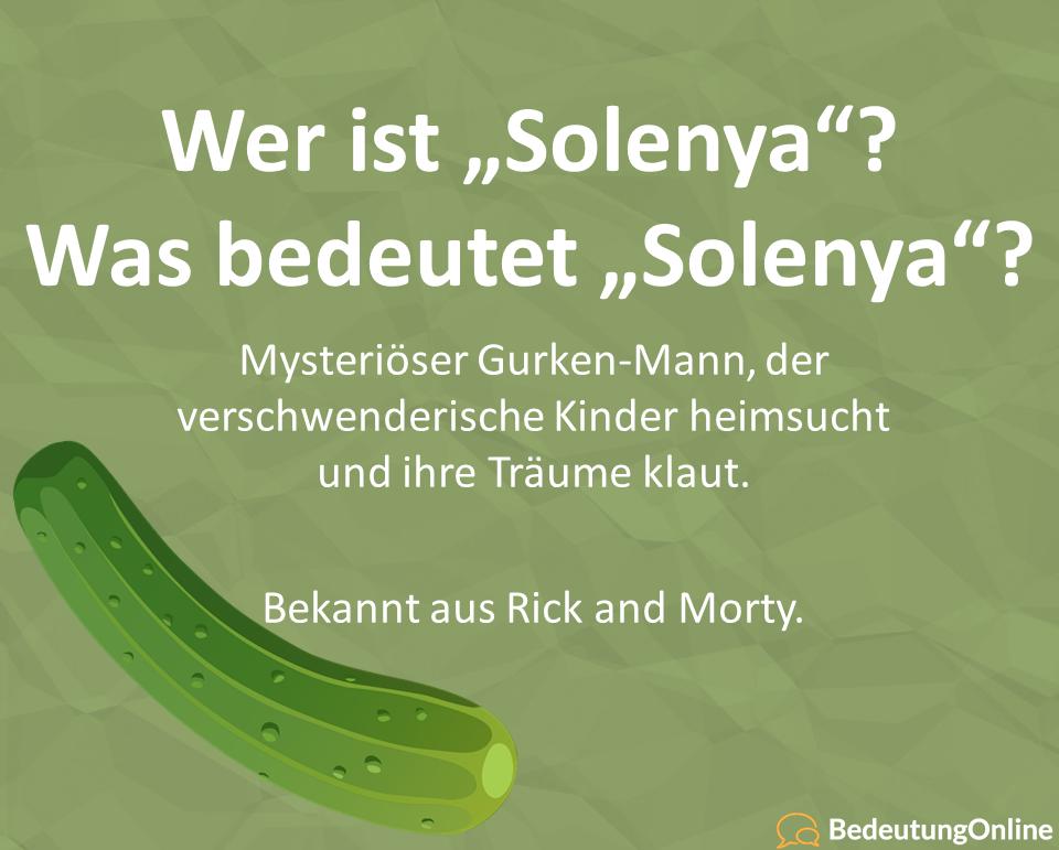 """Wer ist """"Solenya""""? Was bedeutet """"Solenya""""? (Rick and Morty)"""