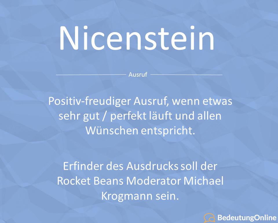 Was bedeutet Nicenstein?