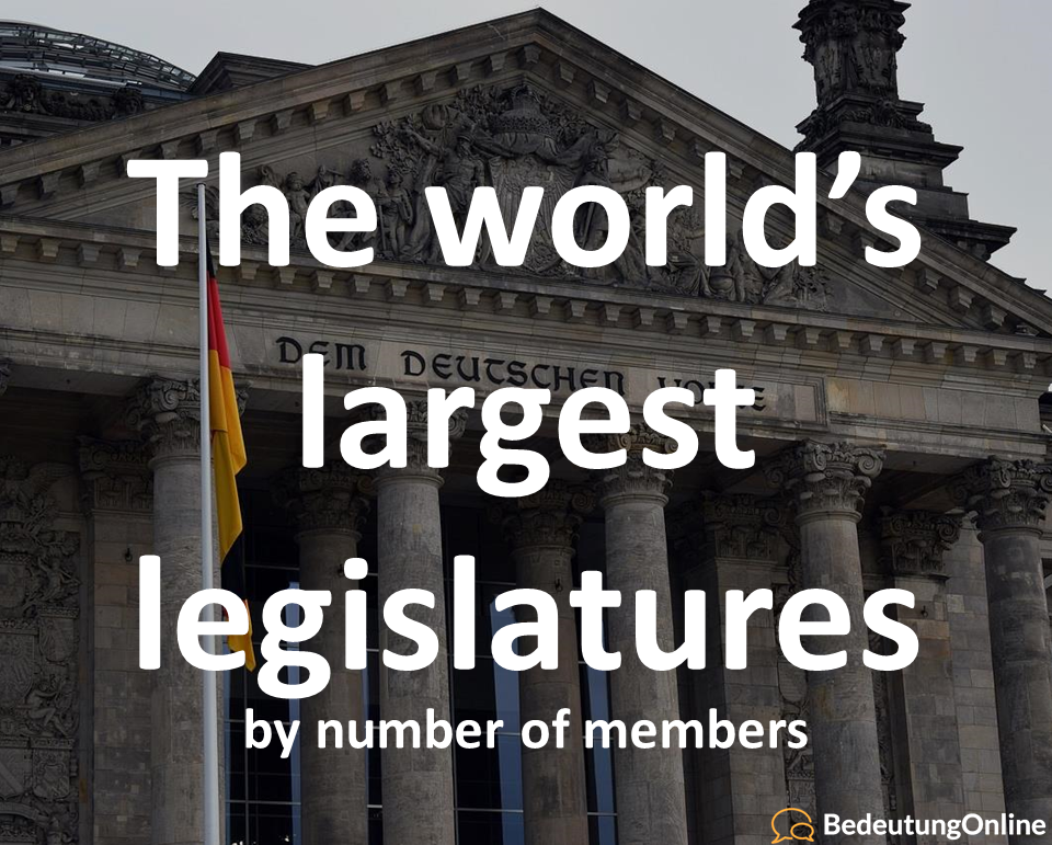 The world's largest legislatures (by number of members)