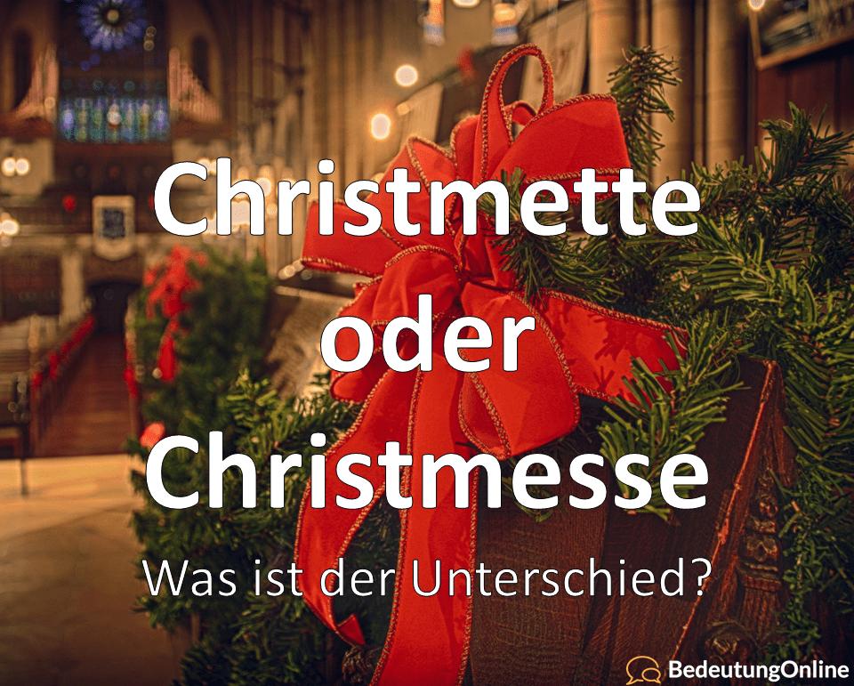"""Warum wird """"Christmette"""" statt """"Christmesse"""" gesagt? Was ist der Unterschied? Bedeutung"""