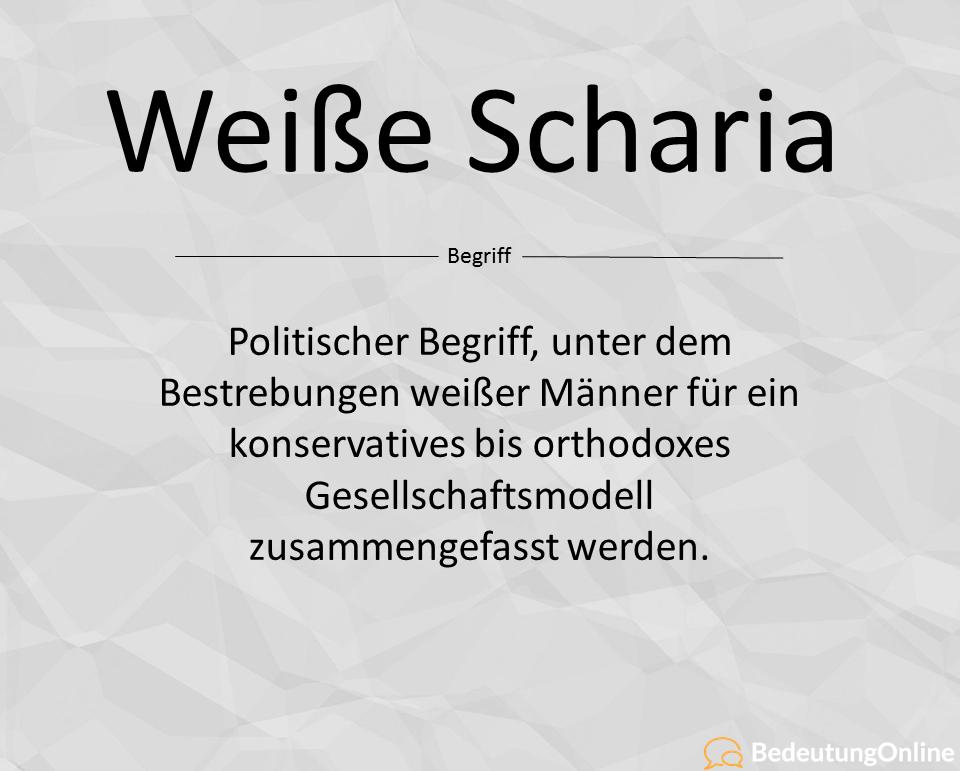 """Was bedeutet """"Weiße Scharia""""? Bedeutung, Definition"""