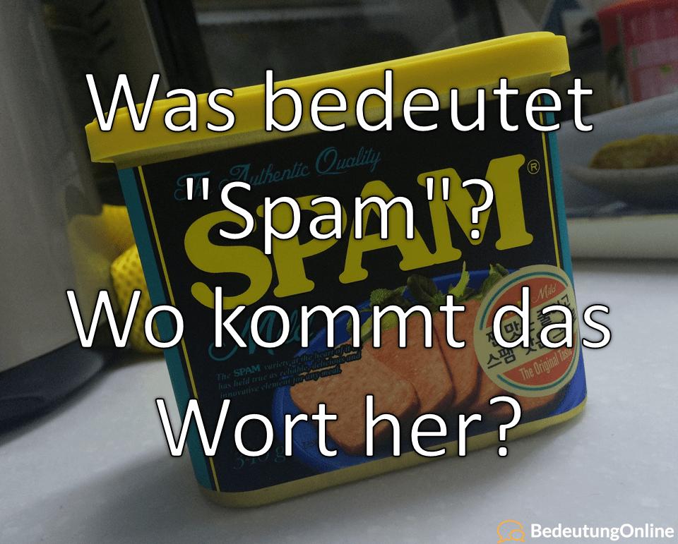 """Was bedeutet """"Spam""""? Wortherkunft, Übersetzung, Bedeutung und Definition"""