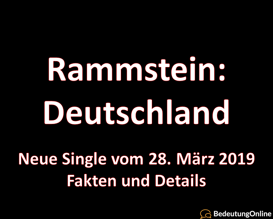 Deutschland 2019 (Lied, Single, Lyrics
