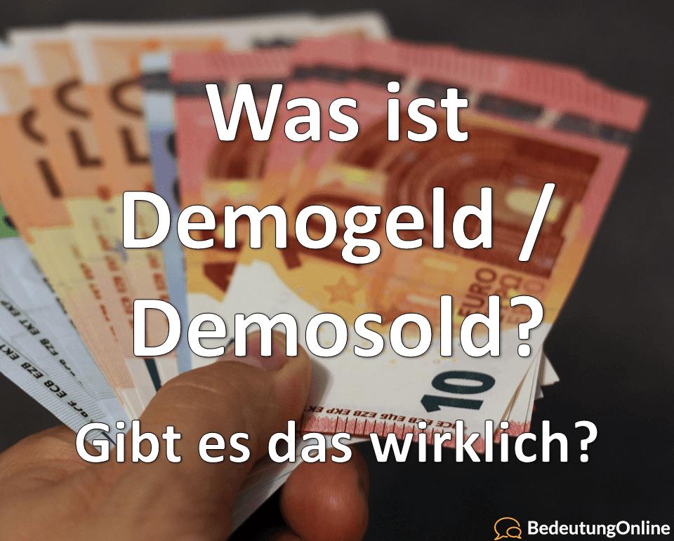demogeld demosold demo-geld demo-sold demo-zuschuss bedeutung gibt es das wirklich