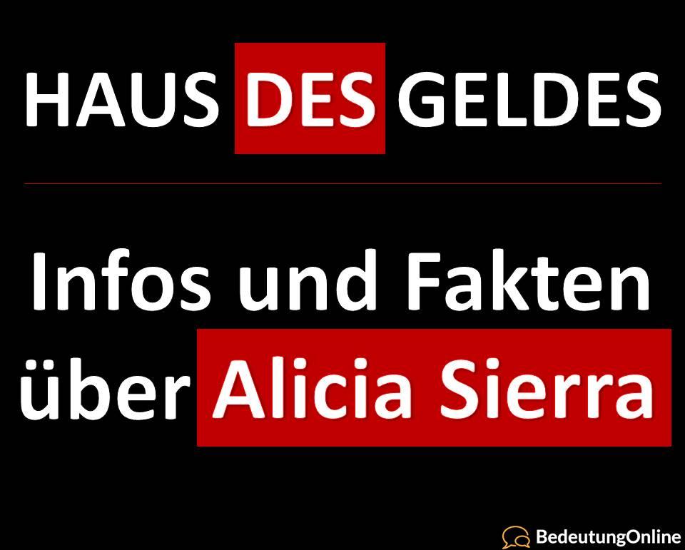 Haus des Geldes, Alicia Sierra, Infos, Fakten, Schauspieler