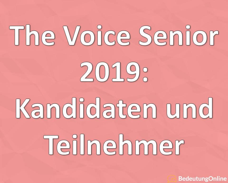 The Voice Senior 2019: Kandidaten und Teilnehmer