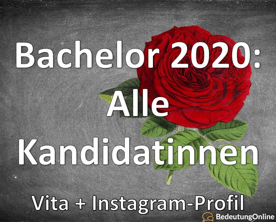 Bachelor 2020: Alle Kandidatinnen / Teilnehmerinnen + Instagram-Profile