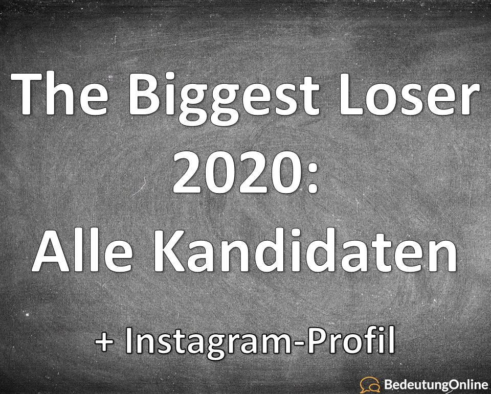 The Biggest Loser 2020: Kandidaten / Teilnehmer Instagram