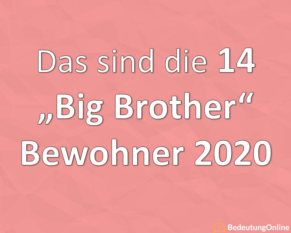 Big Brother 2020 Bewohner, Kandidaten, Teilnehmer, Infos