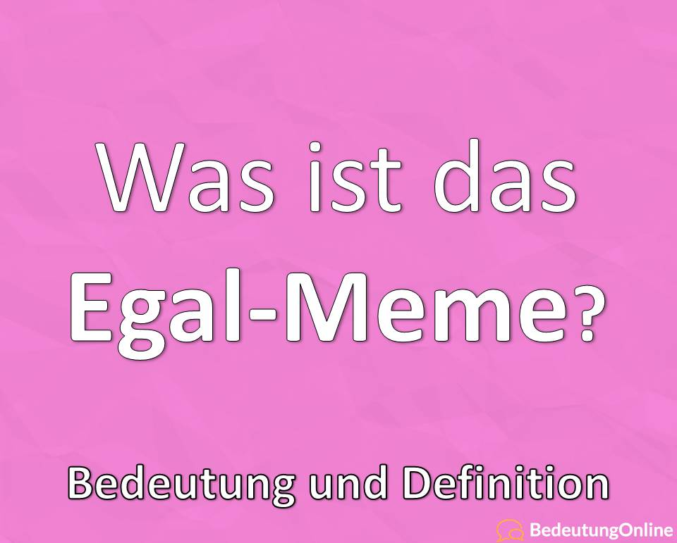 Egal Meme, Michael Wendler, Bedeutung, Definition
