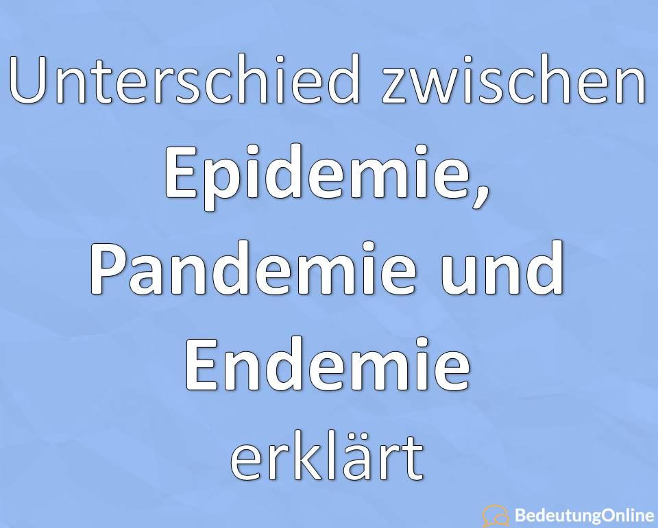 Unterschied Epidemie