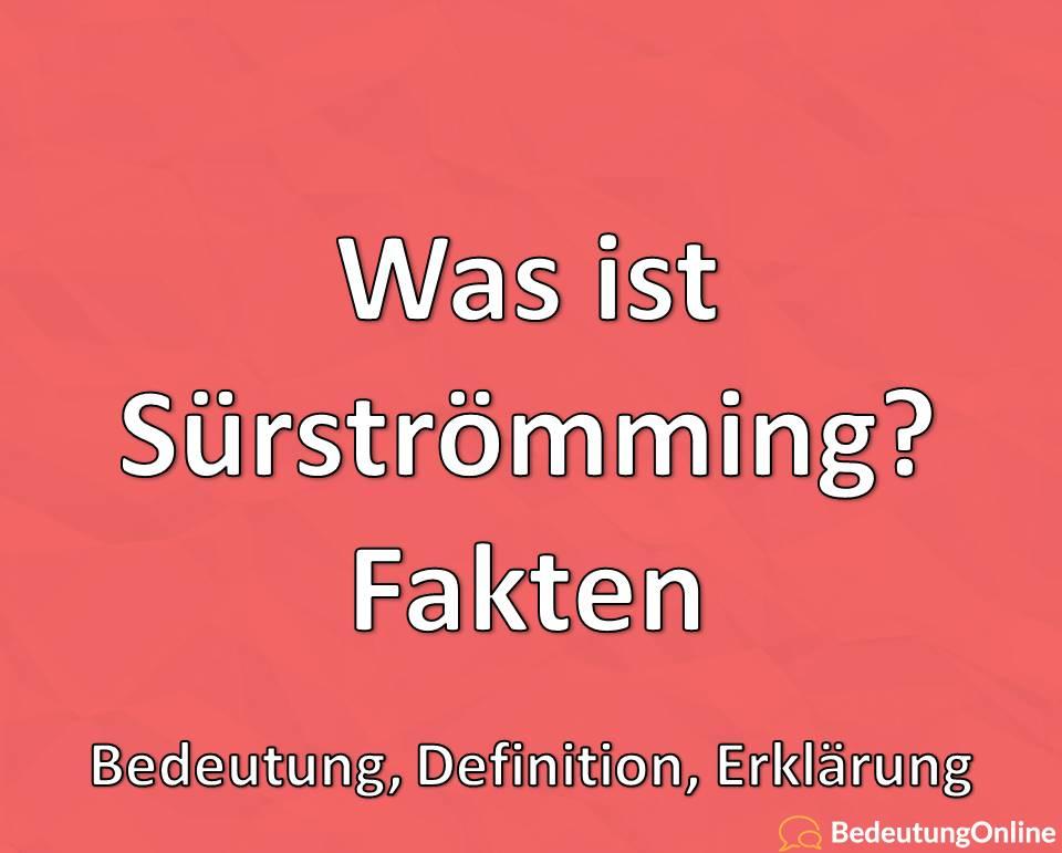 Was ist Surströmming, Fakten, Bedeutung, Definition, Erklärung