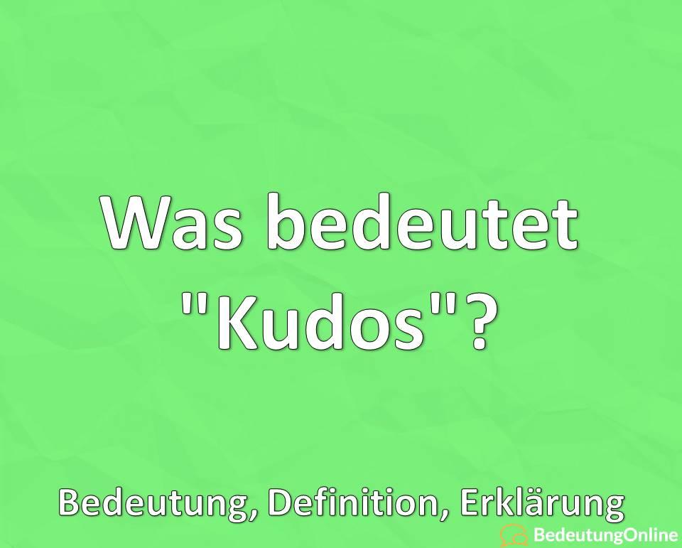 """Was bedeutet """"Kudos""""? Bedeutung, Definition, Erklärung"""