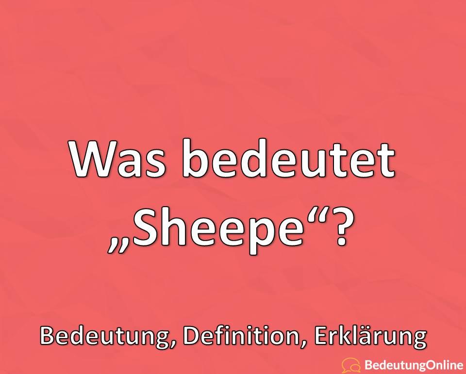 Was bedeutet Sheeple, Bedeutung, Definition, Erklärung