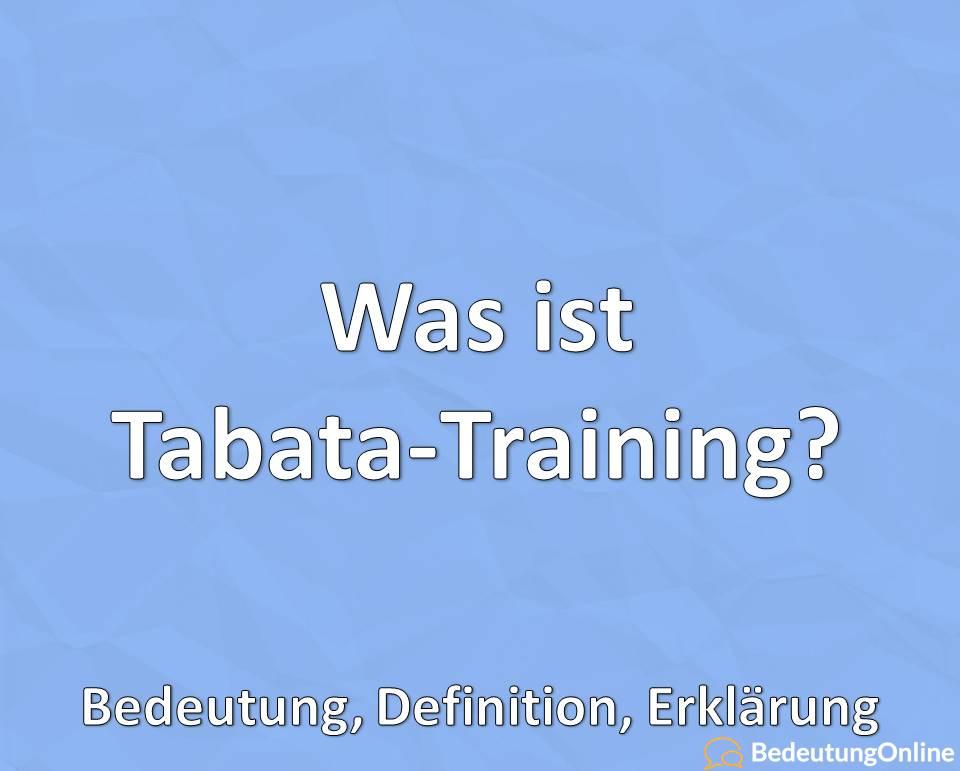 Was ist Tabata-Training? Bedeutung, Definition, Erklärung
