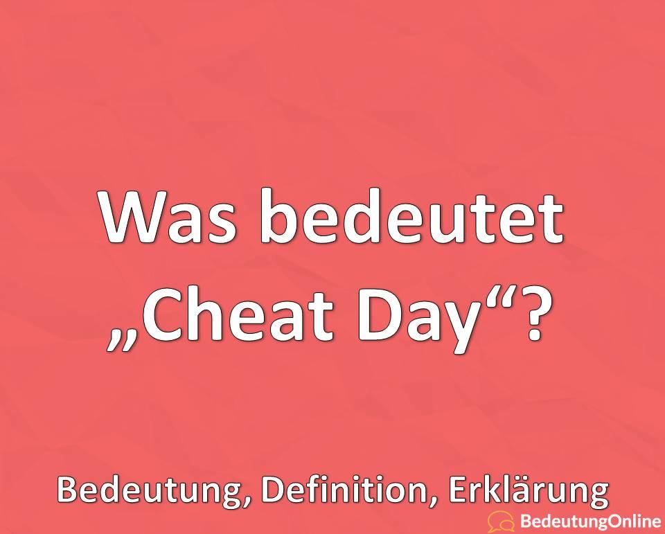 """Was ist ein """"Cheat Day""""? Bedeutung, Definition, Erklärung"""