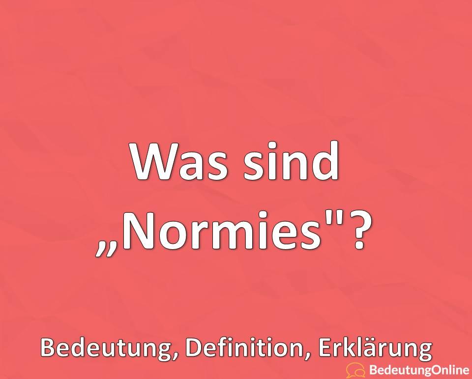 """Was sind """"Normies""""? Was bedeutet """"Normies""""? Bedeutung, Definition, Erklärung"""