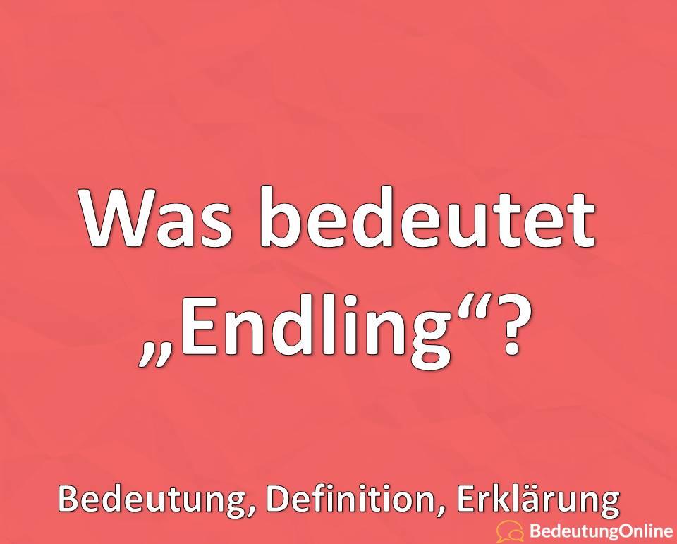 Was bedeutet Endling, Bedeutung, Definition, Erklärung