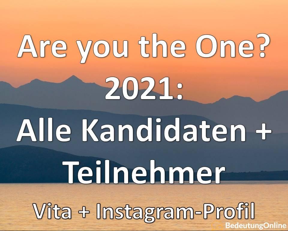 Are you the One? 2021: Alle Kandidaten + Teilnehmer (Steckbrief + Instagram)