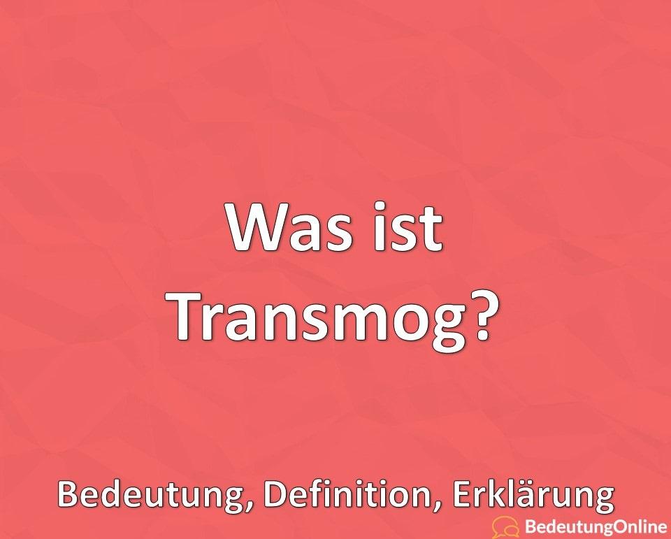 Was ist Transmog? Bedeutung, Definition, Erklärung