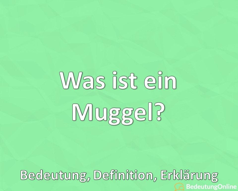 Was ist ein Muggel? Bedeutung, Definition, Erklärung