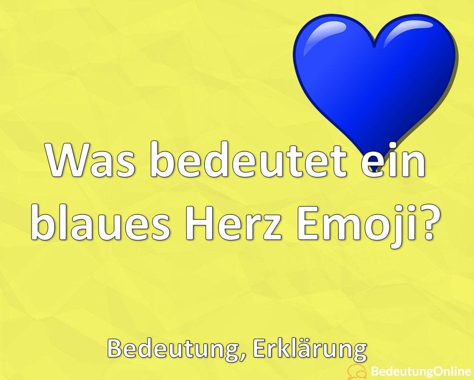Was bedeutet ein blaues Herz Emoji 💙? Bedeutung, Erklärung