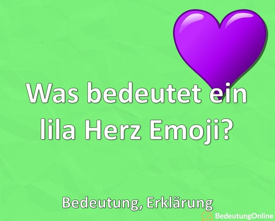 Was bedeutet ein lila Herz Emoji, Bedeutung, Erklärung