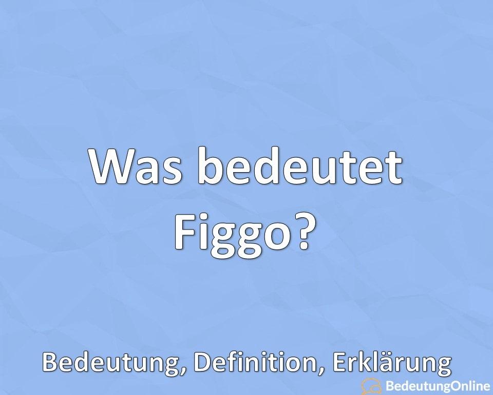 Was bedeutet Figgo, Bedeutung, Definition, Erklärung