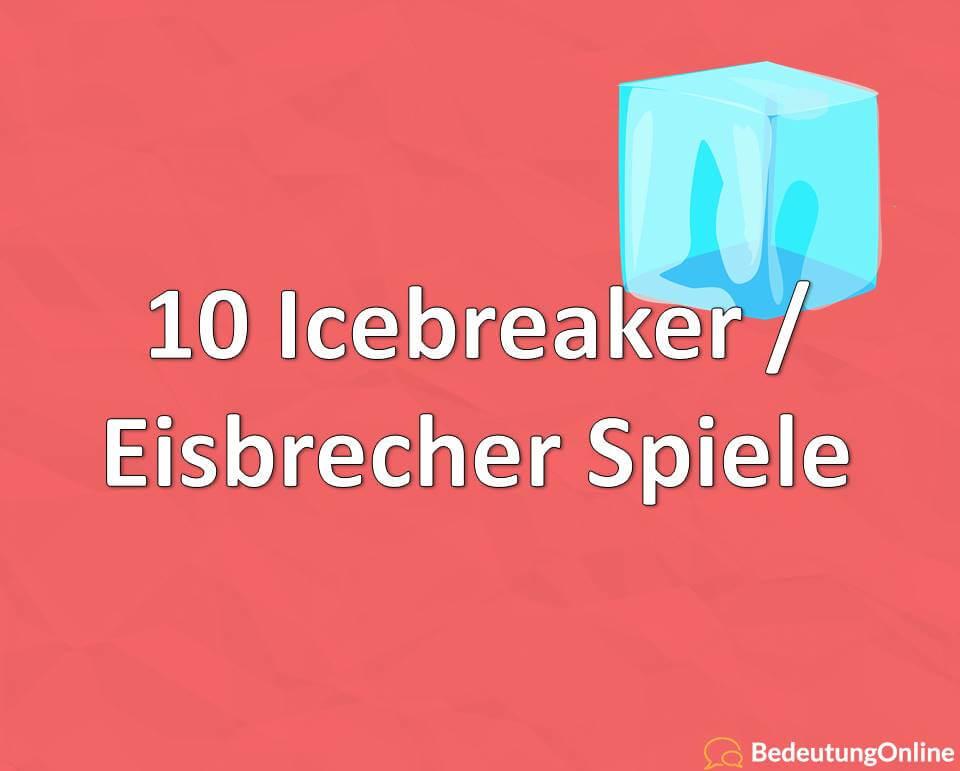 10 Icebreaker / Eisbrecher Spiele
