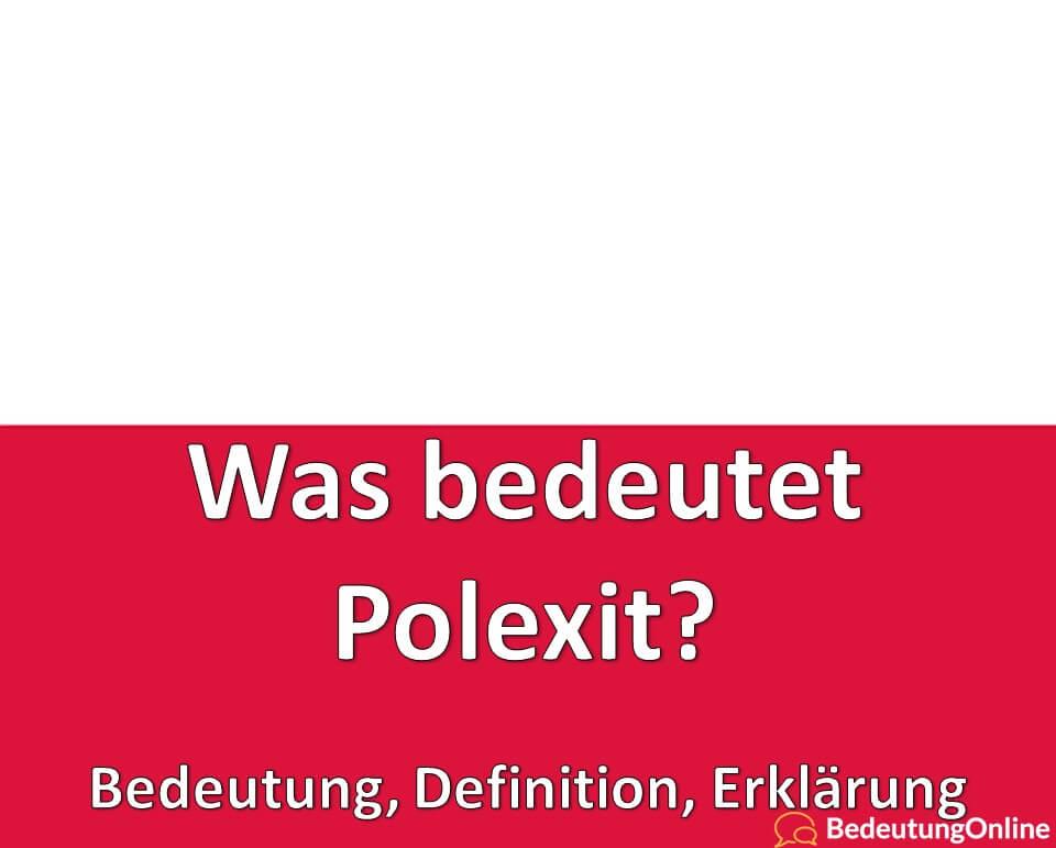 Was bedeutet Polexit, Bedeutung, Definition, Erklärung