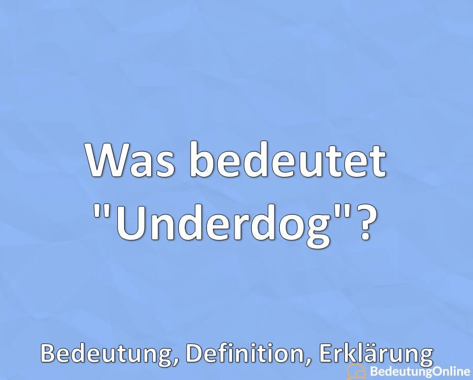 Was bedeutet Underdog, Bedeutung, Definition, Erklärung