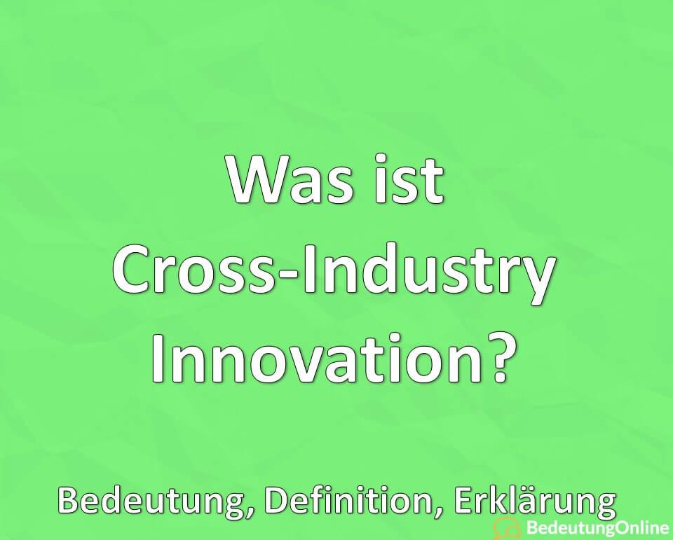 Was ist Cross-Industry Innovation? Bedeutung, Definition, Erklärung