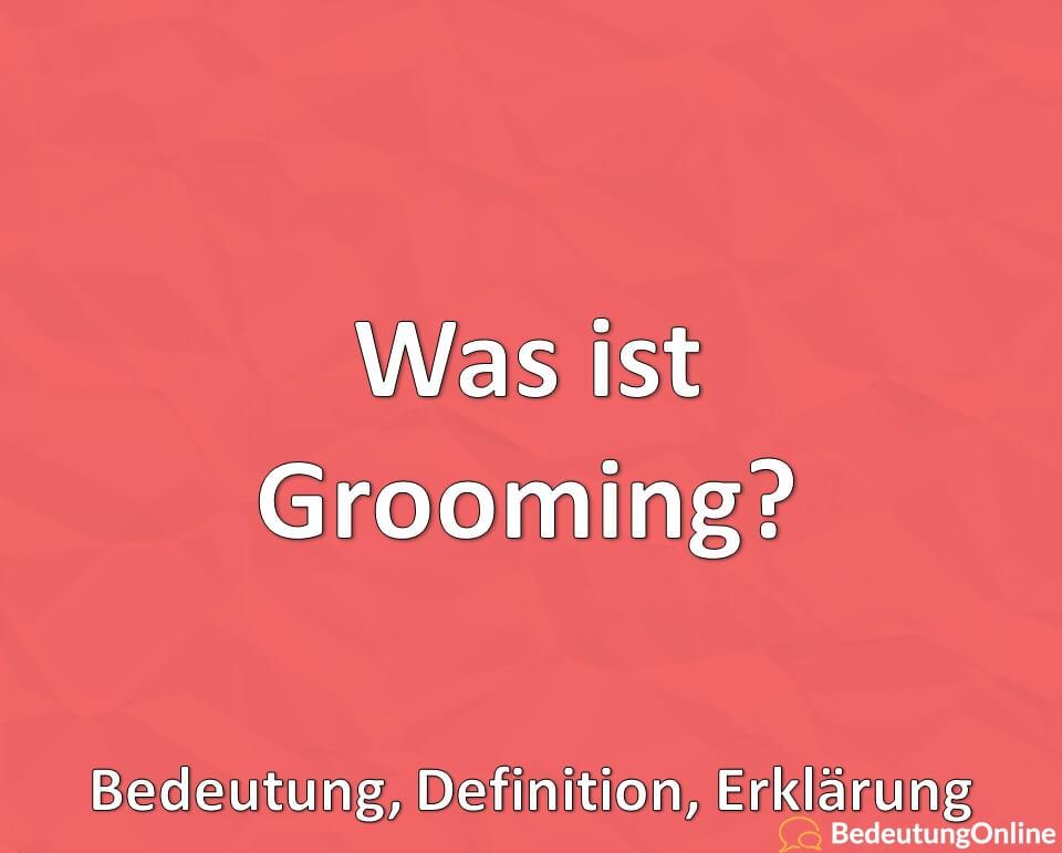 Was ist Grooming? Bedeutung, Definition, Erklärung