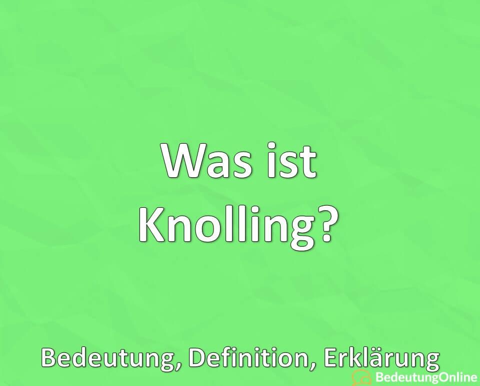 Was ist Knolling? Bedeutung, Definition, Erklärung